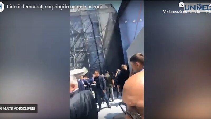 Unimedia: Атмосфера за кулисами сцены ДПМ, где ожидали сегодня Плахотнюка