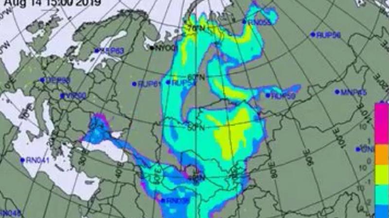 Как может перемещаться радиоактивное облако, образованное в результате взрыва в Архангельске и достигнет ли оно Молдовы