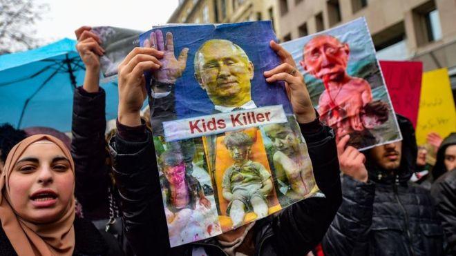 В Стамбуле демонстранты потребовали от России «убираться из Сирии»