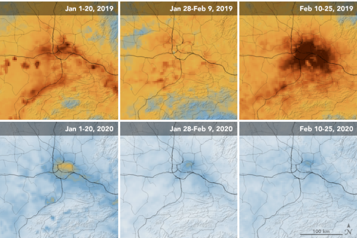 Удивительные снимки со спутника. Как уменьшилось загрязнение воздуха в Китае с тех пор, как страна сократила экономическую активность из-за коронавируса
